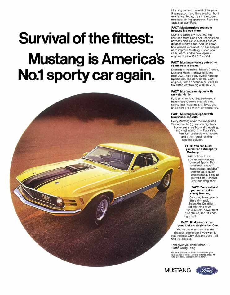 Mustang Is America S 1 Sporty Car Again Print Ads Mustang Ford