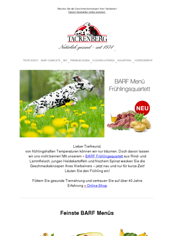 NEU: Ihr BARF Frühlingsquartett
