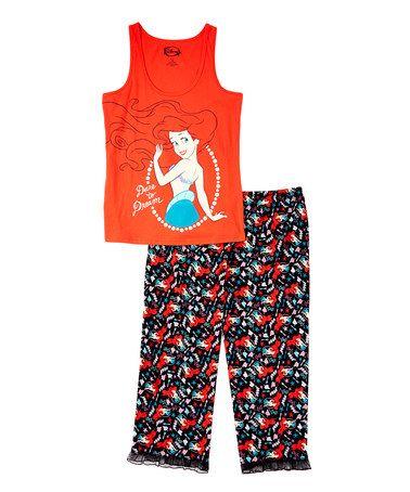 8101b0e13eb1 Disney Princess Red Ariel Tank   Lace Trim Pajama Pant Set - Juniors   Plus