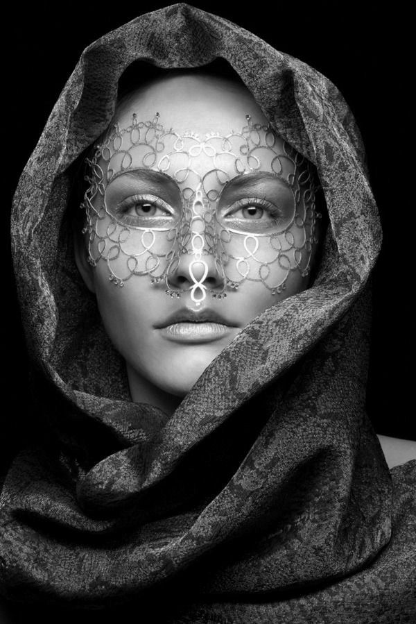 """Madness Hair and makeup by: Edwin Kaufmann """"We understand how dangerous a mask can be. We all become what we pretend to be."""" ~Patrick Rothfuss, The Name of the Wind"""