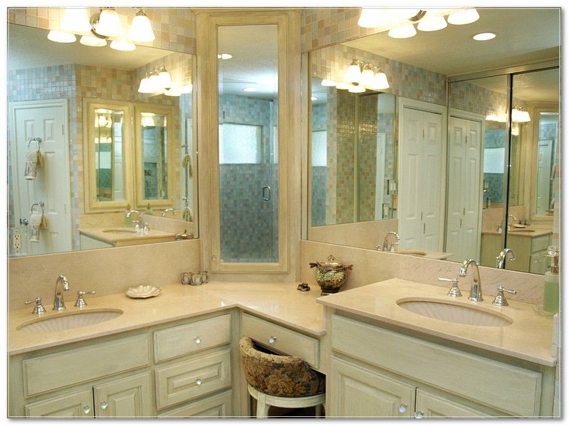 Image Result For L Shaped Bathroom Vanity With Sitting Area