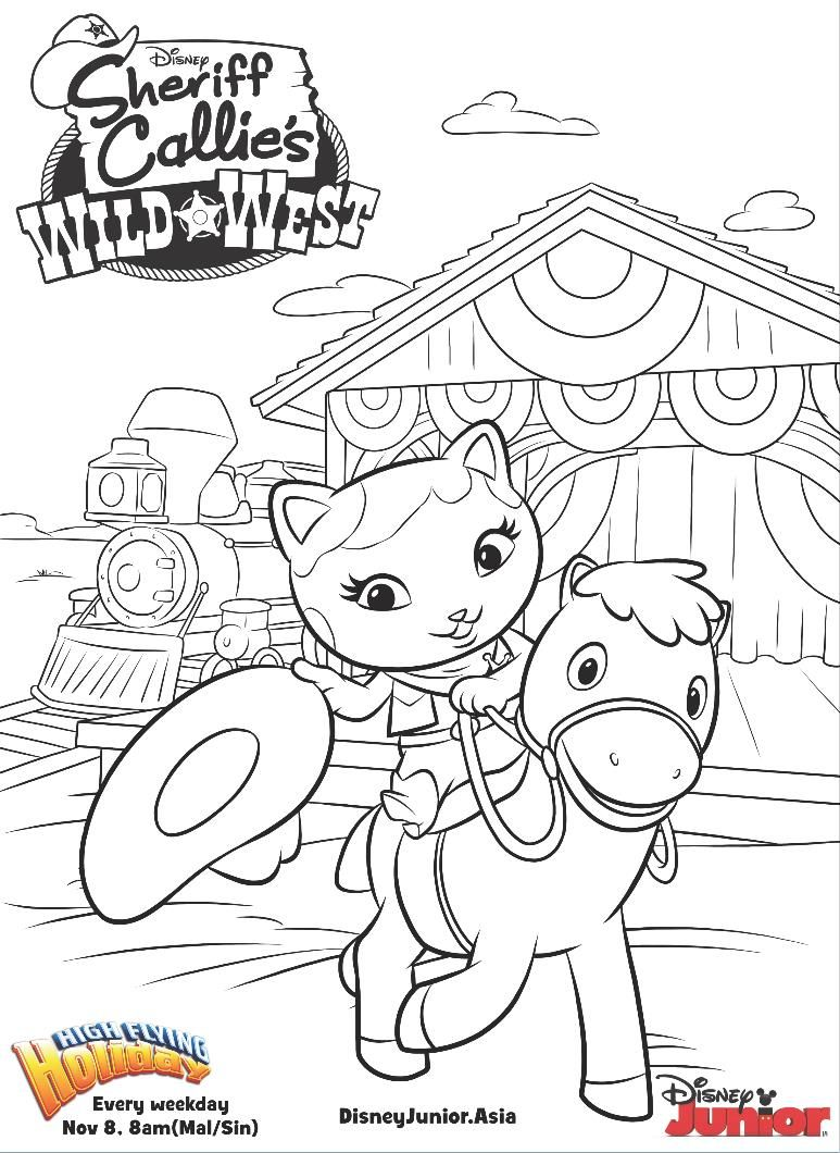 Sheriff Callie Coloring Pages Coloring Pages Coloring For Kids