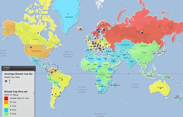 Pin by pumpkin pie on mapit pinterest 40 maps they didnt teach you in school breast size by country gumiabroncs Gallery