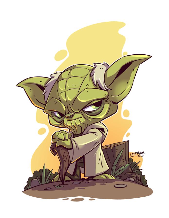 Star Wars Yoda By Derek Laufman  Star Wars  Star Wars -5800
