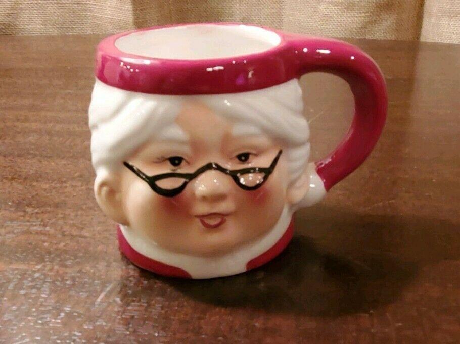 Pottery Barn Mrs Claus Coffee Mug Cup Christmas Brand New ...