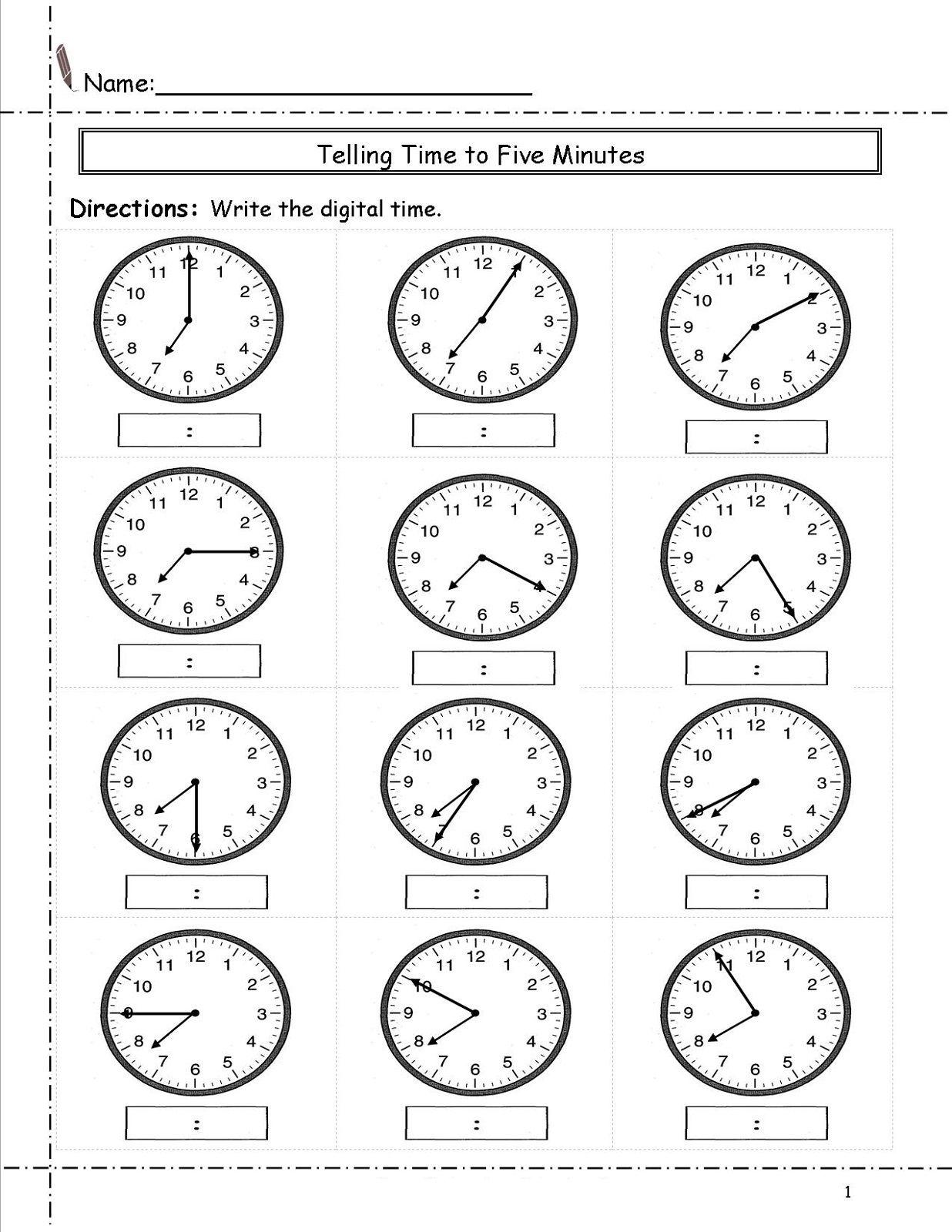 Free Elapsed Time Worksheets