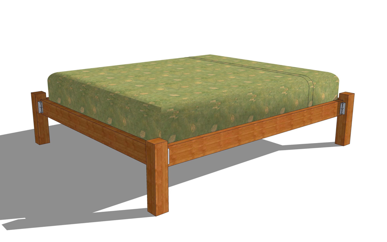 Build a Wooden Bed Frame Wooden bed frames, Bed frame