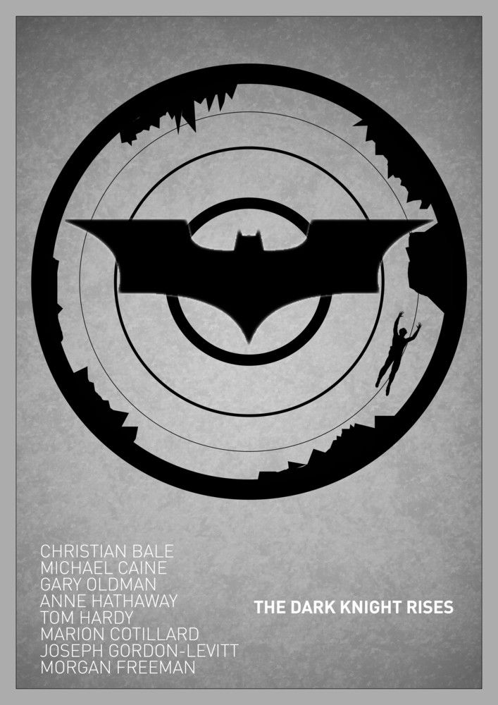 Simple And Cool Movie Posters Minimalist The Dark Knight Rises Batman Poster