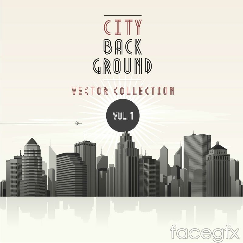 Urban Architecture Background Vector For Free Download