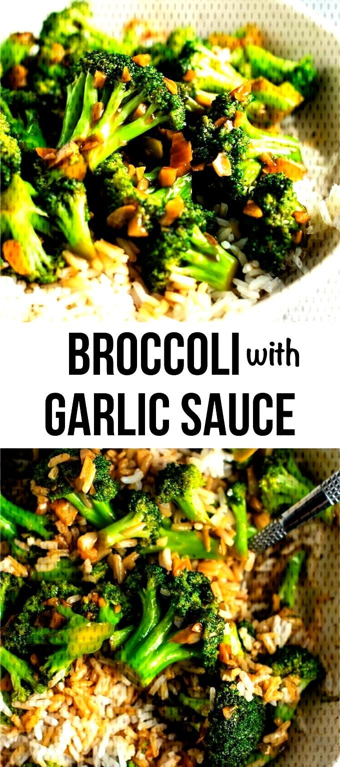Broccoli stir fry recipe – this is so easy to make and the stir fry sauce is only 3 ingredients!