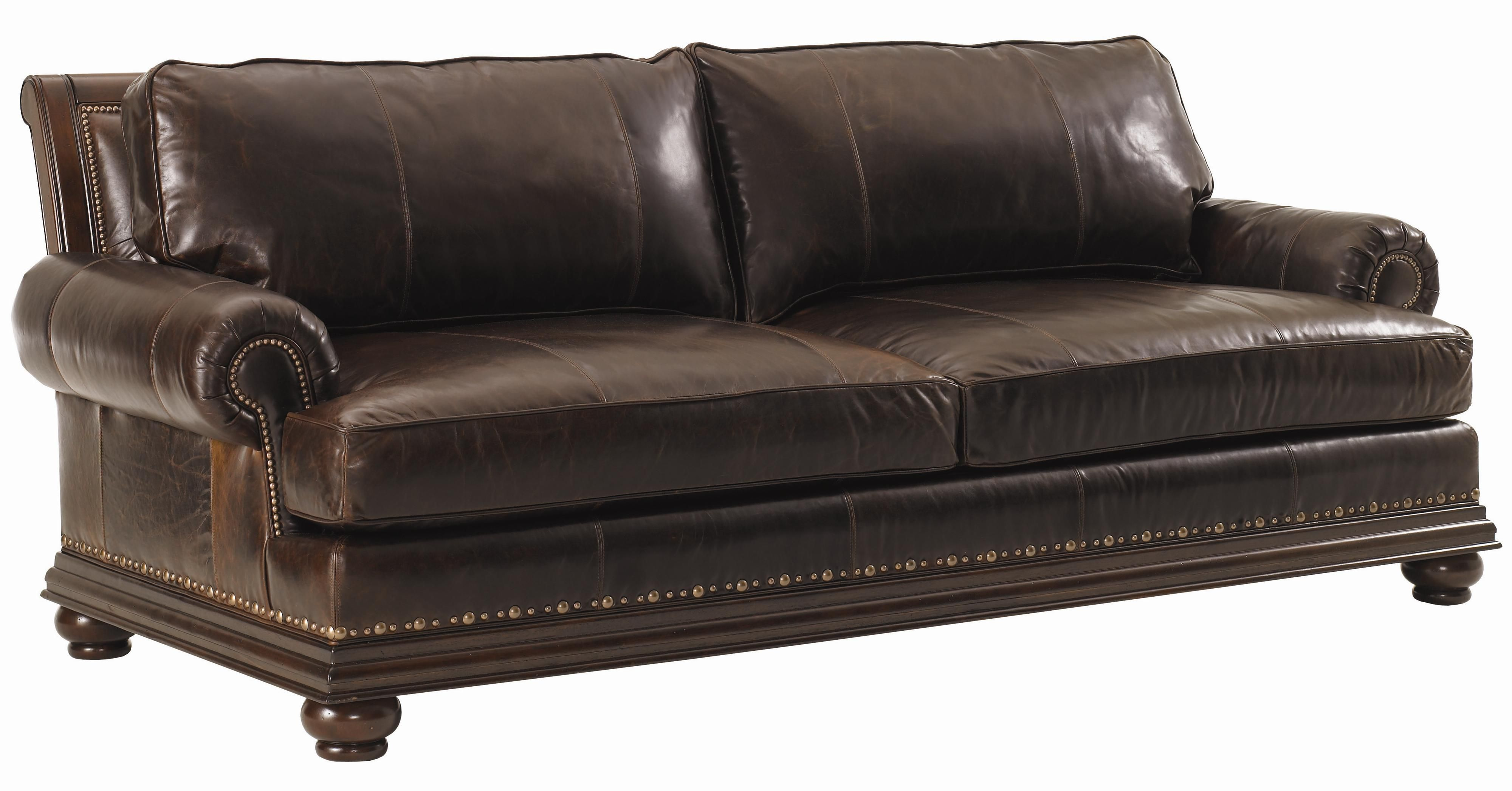 Fieldale Lodge Quick Ship Chambers Leather Sofa By Lexington Home Brands Lexington Furniture Leather Sofa Best Leather Sofa