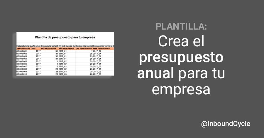 Descarga esta plantilla gratuita en Excel para preparar el presupuesto anual de tu empresa y así tener controlados los gastos e ingresos que recibes.