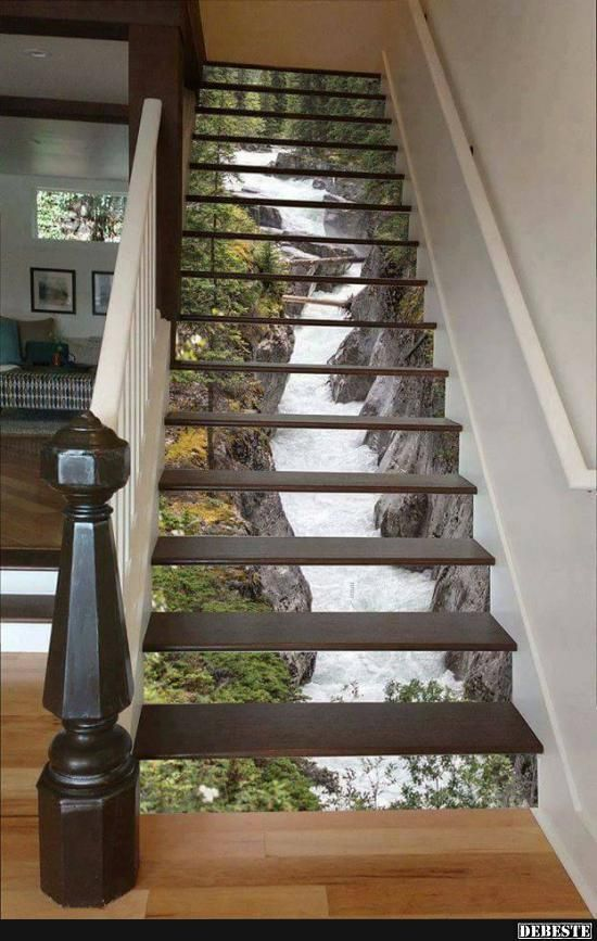 13 gro artige diy ideen um ihre treppe umzuwandeln seite 12 von 13 diy bastelideen. Black Bedroom Furniture Sets. Home Design Ideas