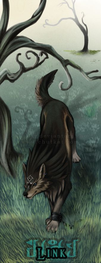 Wolf Link Bookmark by chutkat on DeviantArt