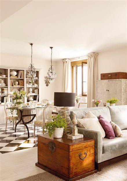 Ba l como mueble auxiliar detalle del suelo en damero - Muebles con encanto ...