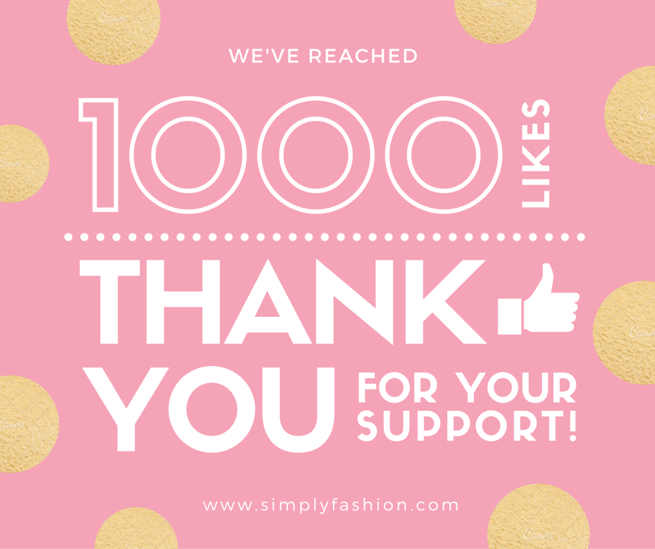 We've reached 1000 Likes thank You For your Support! www