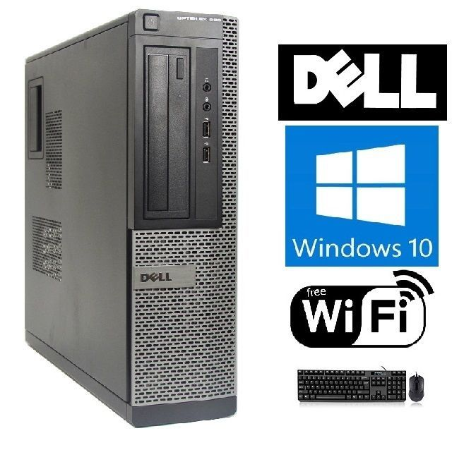 Dell OptiPlex 390/790 Intel i3 DT Windows 7/10 250GB 4GB/8GB WiFi PC