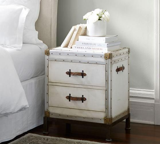 Ludlow White Distressed Bedside Table Distressed Bedside Table Trunk Side Table Bedroom Night Stands White distressed night stands