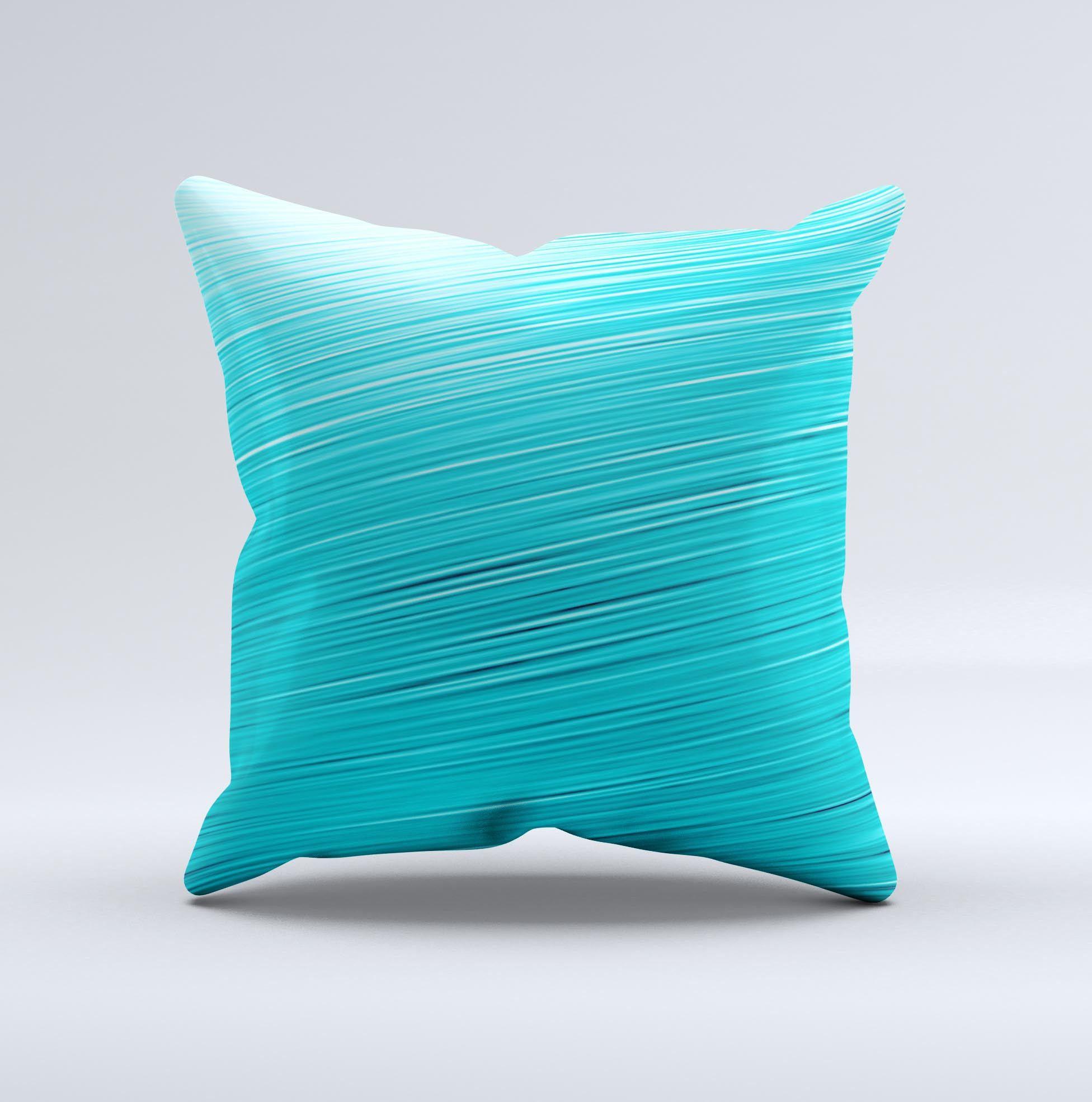 Light Blue Slanted Streaks ink-Fuzed Decorative Throw Pillow from DesignSkinz