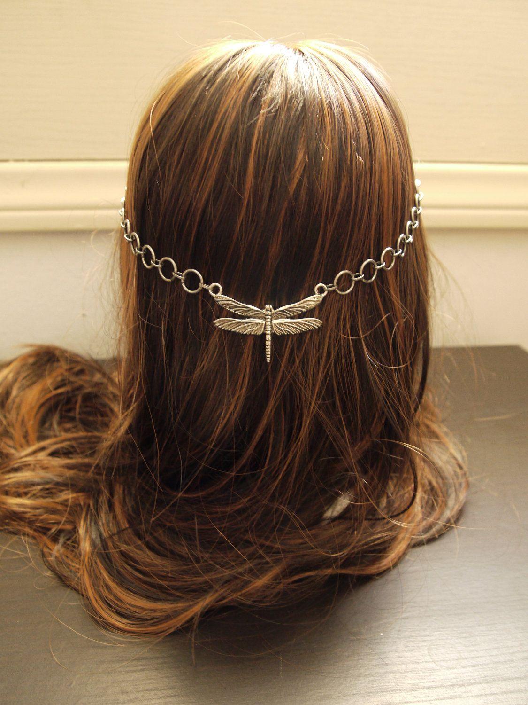 Reversible Dragonfly Goddess Circlet Headdress. $30.00, via Etsy.