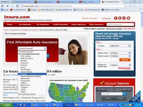 Comparison Of Auto Insurance Rates By State Watch Video Here