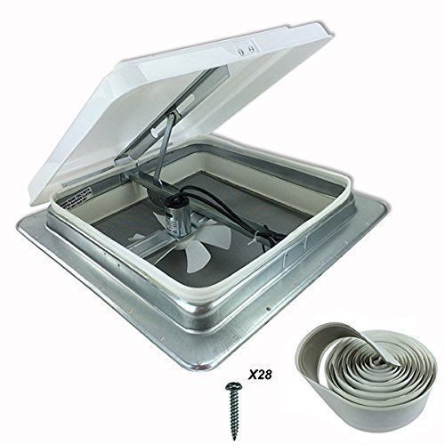 Heng S 14 Rv Camper Trailer Universal White Roof Vent W 12v 12 Volt Fan 71112 C No Garnish Ring Included Roof Vents Rv Campers Motorhome Camper