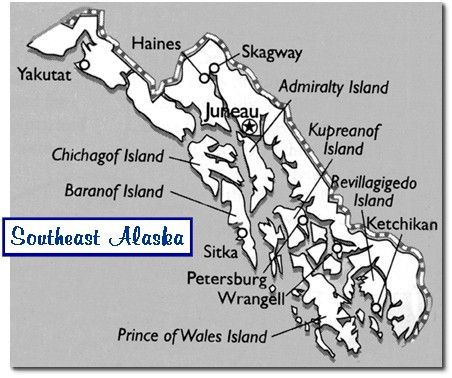southeast alaska - map | South east Alaska | Pinterest | Alaska ...