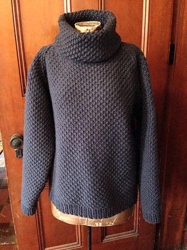 Completed loom knit sweater! I converted a Martin Storey ...