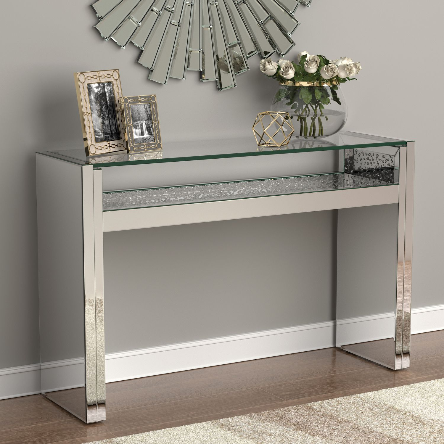 Cs766 Console Table In 2020 Contemporary Console Table Mirrored