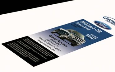 Mad Men Marketing - Print collateral ~ Garber Ford