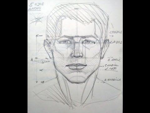Rostro Humano Como Dibujar Un Hombre Facil Paso A Paso Ejercicio Para Pricipiantes En Los Dibujos Proporciones Y Medidas