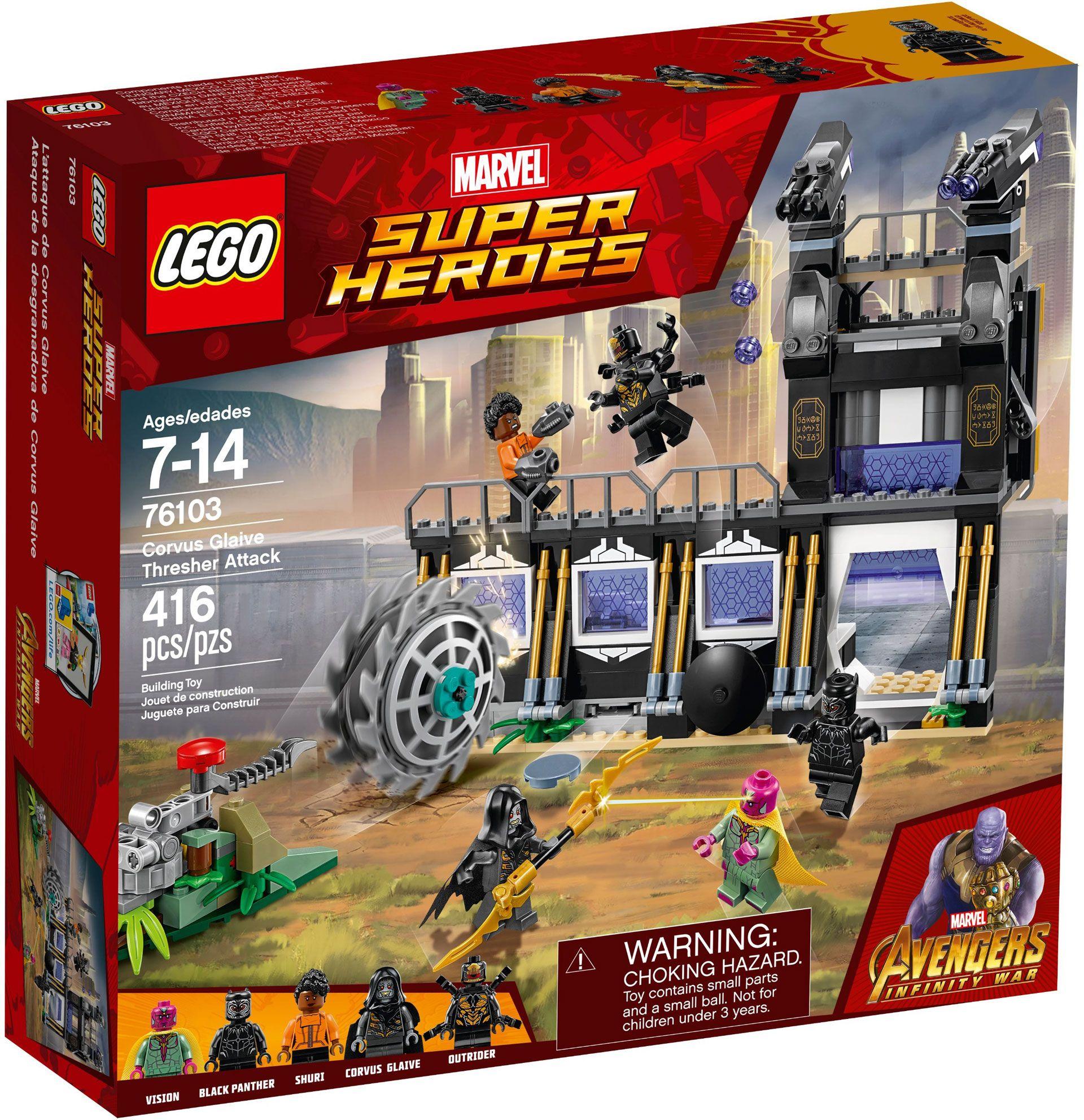 Lego Marvel Super Heroes 76103 Infinity War đại Chiến Wakandan Dc Comics Heroes Marvel