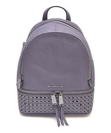 6115ada52a8fd8 Look at this #zulilyfind! Lilac Grommet Leather Backpack #zulilyfinds