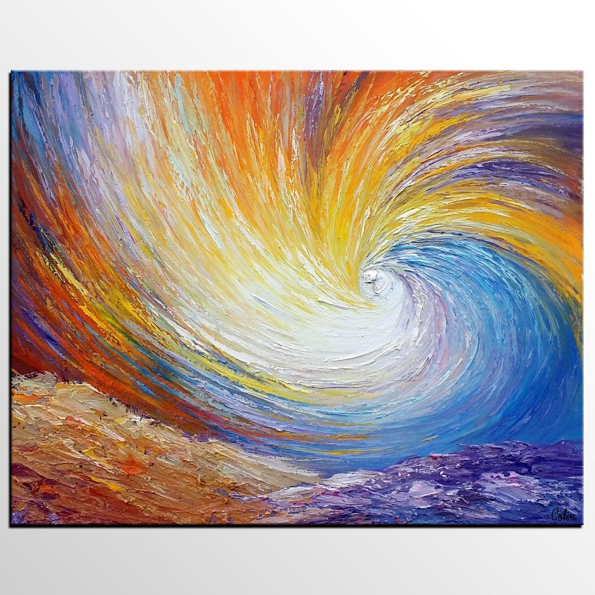 Abstract Landscape Art, Wall Art, Heavy Texture Art, Canvas Art ...