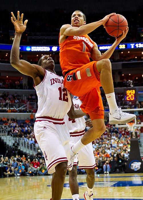 Michael Carter Williams had a career high scoring output vs. the #1 seeded Hoosiers.  'Cuse's defense smothered Indiana all game. Then they held Marquette to just 39 pts. in the elite 8.  Go Orange in the Final Four! 2013