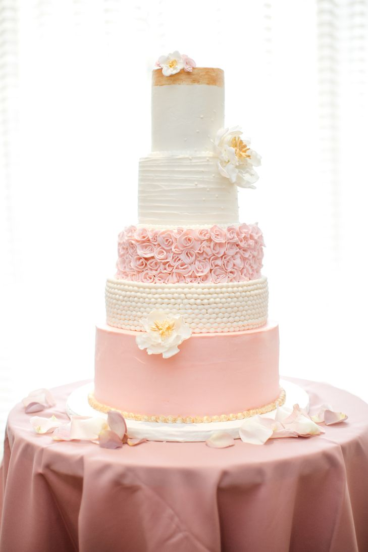 rose gold and cream wedding cake five tier blush and gold wedding cake the createrie 19267