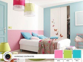 Emejing Chambre Rose Et Bleu Contemporary - Design Trends 2017 ...