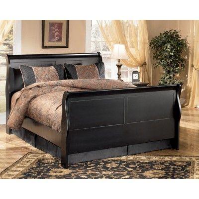 Naydeen Queen Sleigh Bed Bedroom Furniture Gabriele