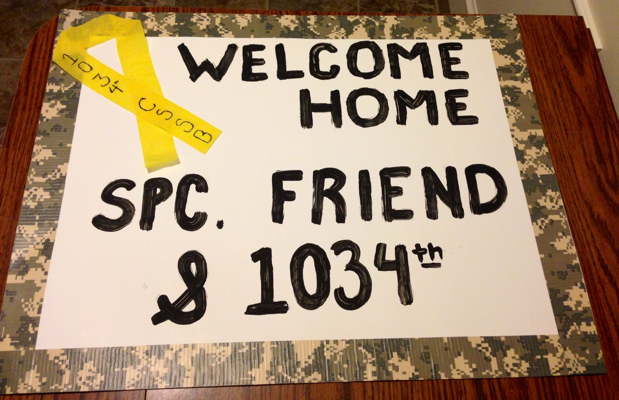 Welcome home sign #2 | army girlfriend | Pinterest | National guard ...