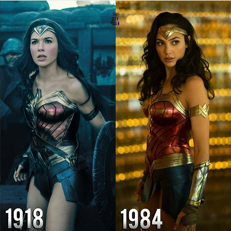 First Look Of Wonder Woman In Wonder Woman 84 Are You Excited Sourc Wonder Woman Cosplay Gal Gadot Wonder Woman Wonder Woman