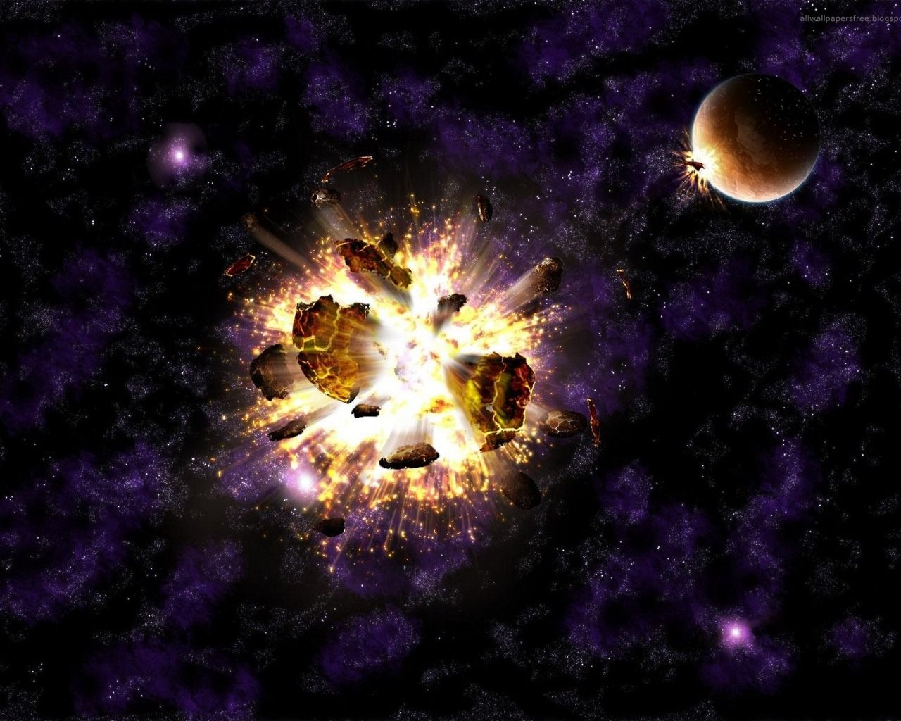 Взрыв в космосе картинка