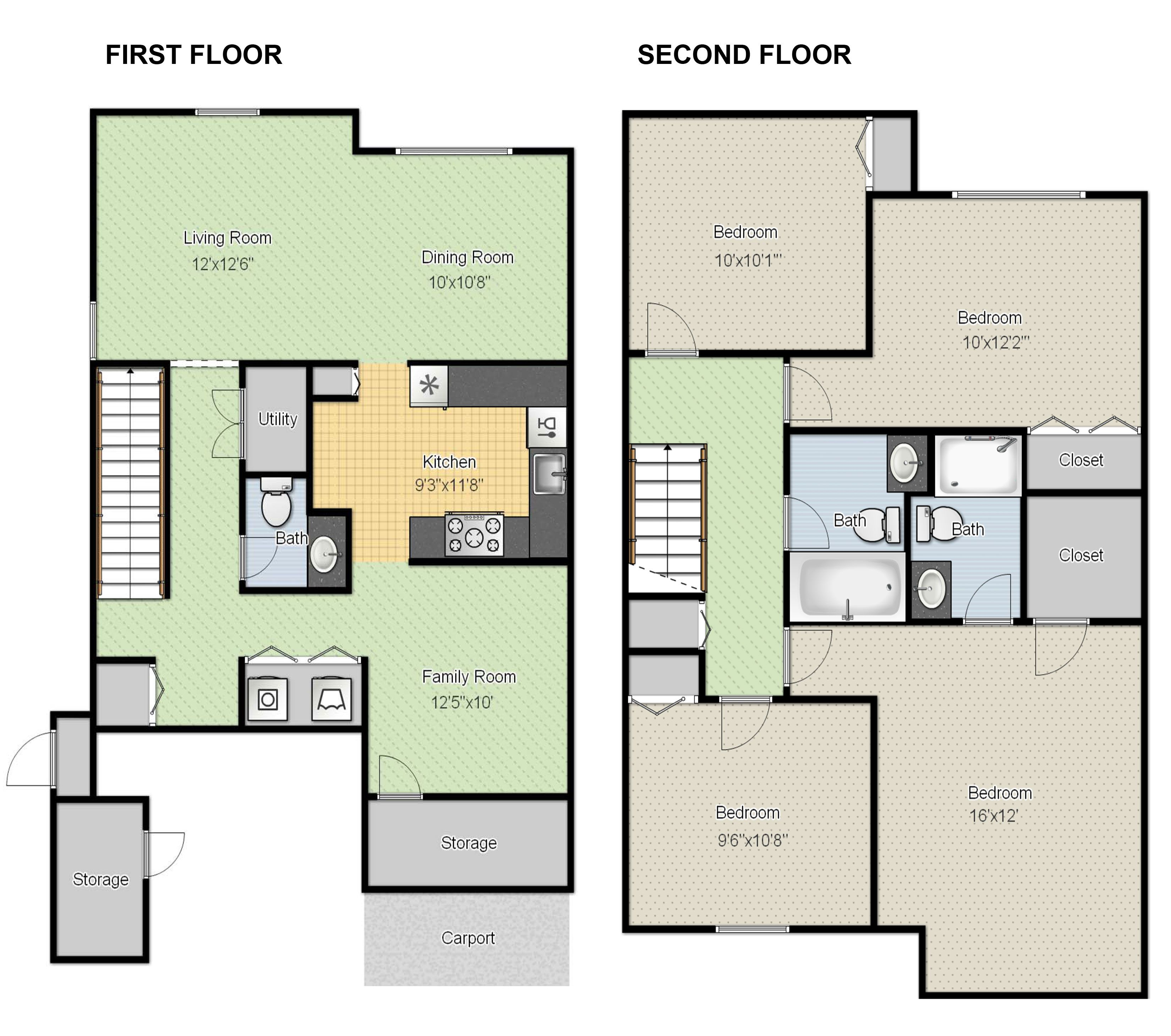 Create floor plans online for free with large house floor Online room layout planner