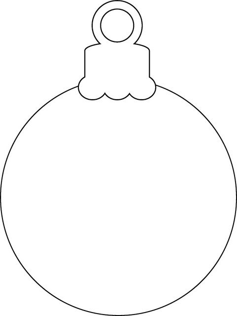 Printable Christmas Ornament Coloring