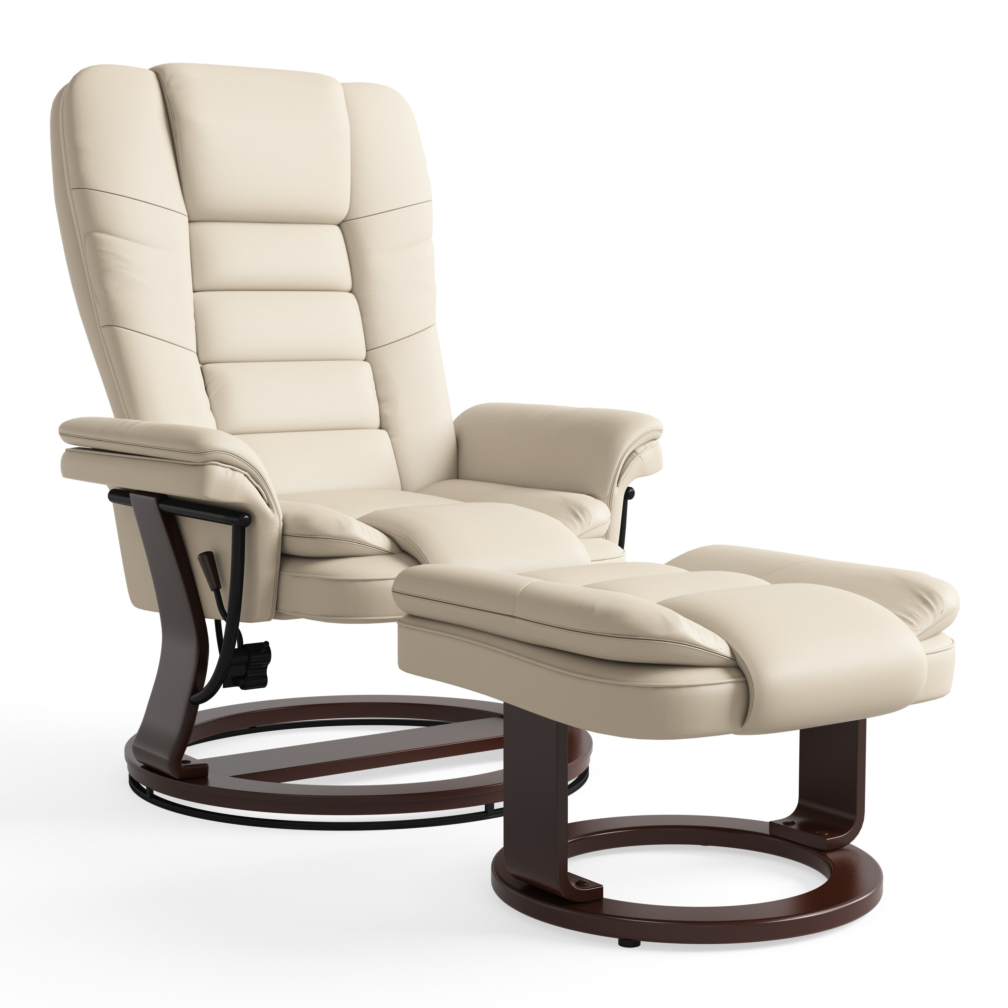 Swell Copper Grove Gunnison Beige Bonded Leather Recliner Theyellowbook Wood Chair Design Ideas Theyellowbookinfo