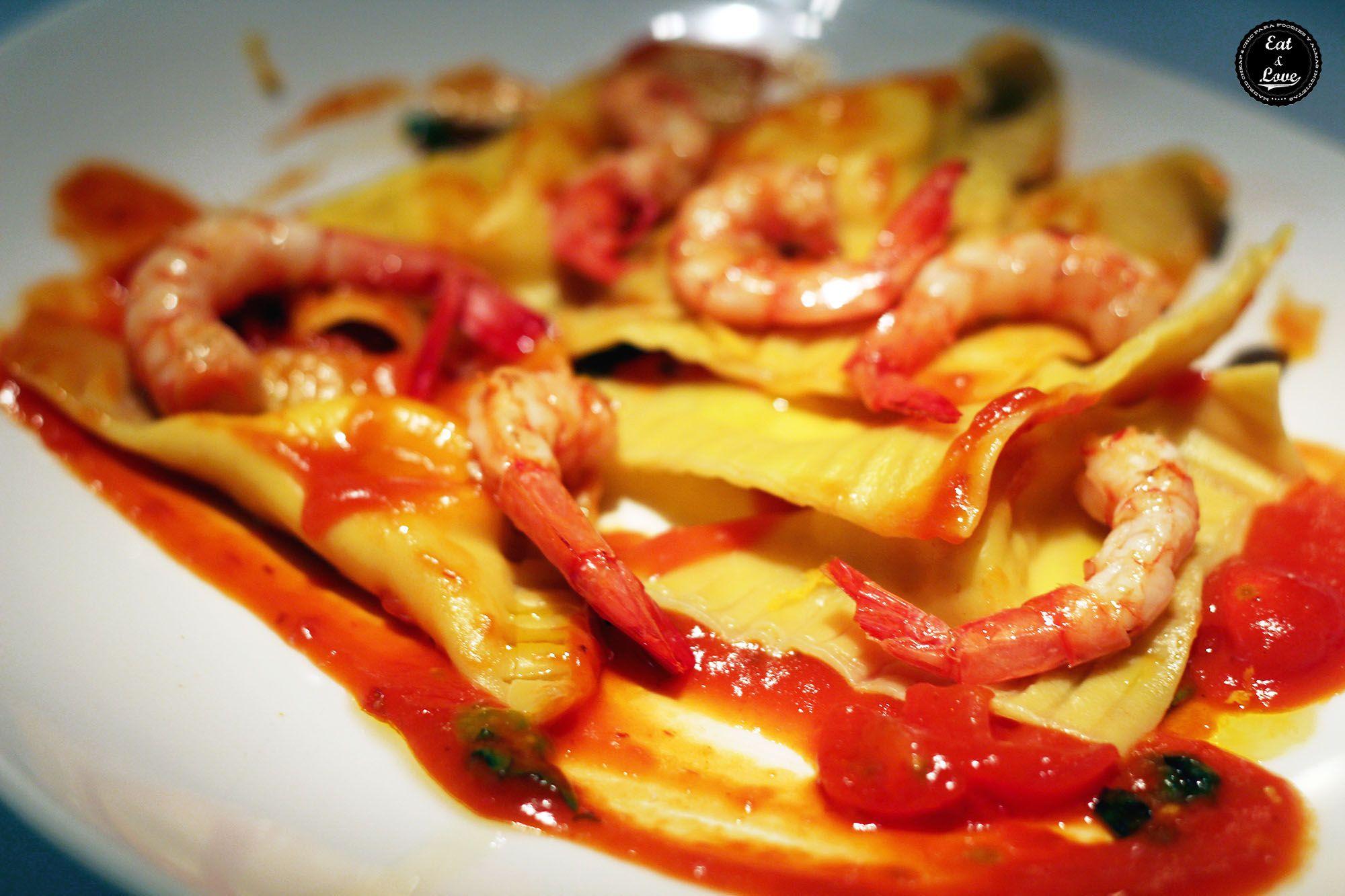 Ravioli davidino - restaurante italiano Gioia Madrid