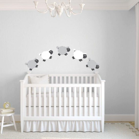 Counting sheep decal wall stickers pinterest nursery babies and baby baby