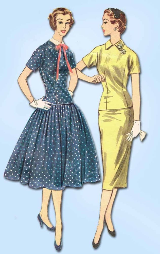 1950s Vintage McCalls Sewing Pattern 3182 Uncut Misses Two Piece ...