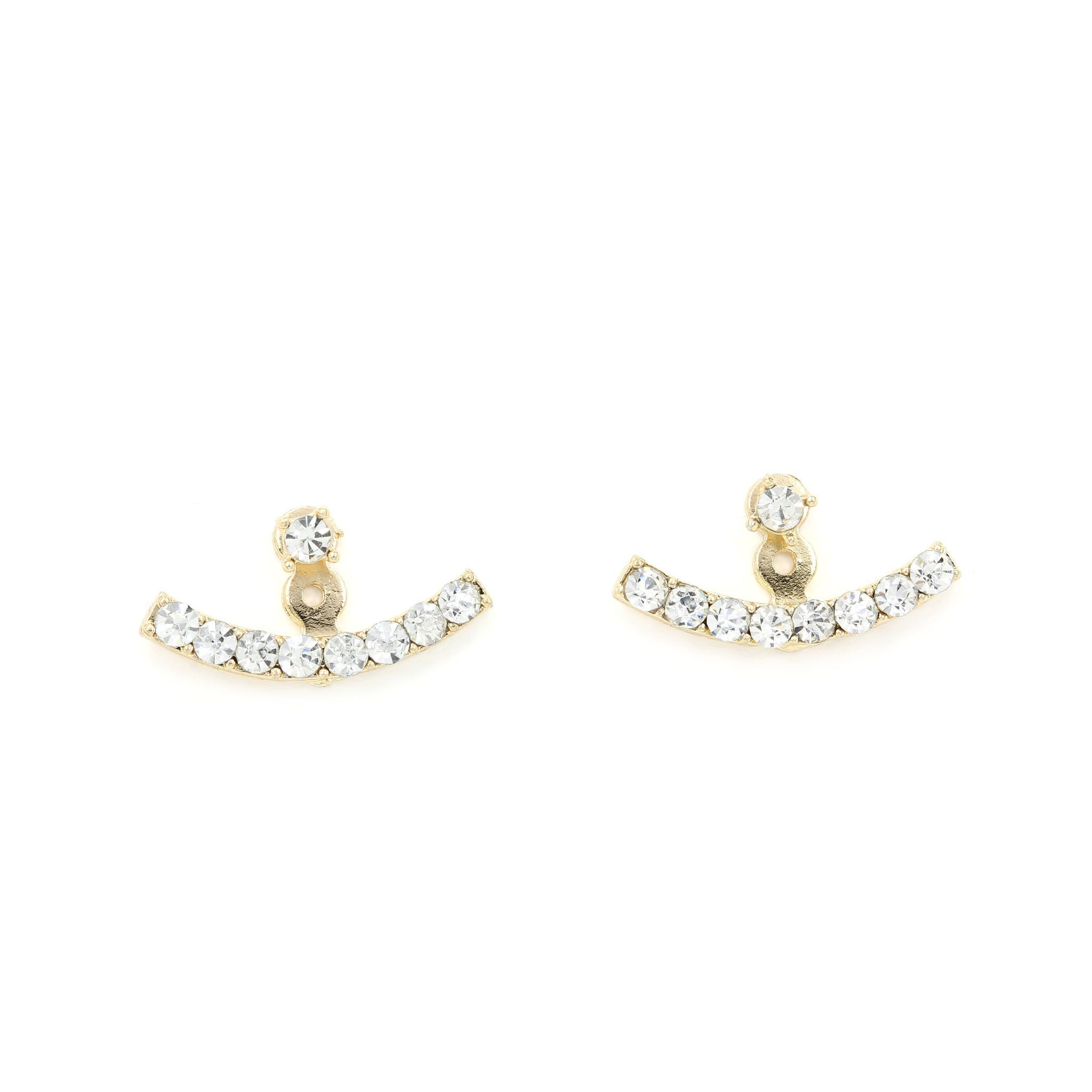 Diamond earrings have been a classic for decades This ear jacket