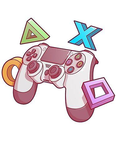 Promote Redbubble Gamer Retro Personagens De Videogame Controle De Ps4
