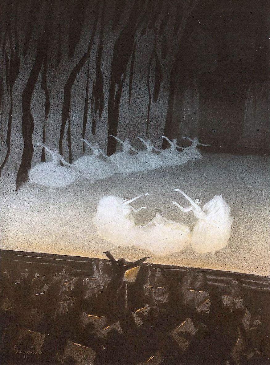 """"""" Russian Ballet, Walter Schnackenberg, Die Kunst für Alle, 1912-13.   Some ballets are like otherworldly ceremonies"""